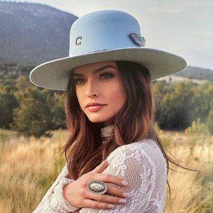 Charlie 1 Horse Hat Saguaro in Baby Blue